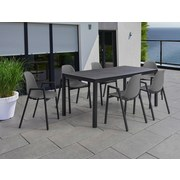 Gartenset Moorea - Anthrazit/Grau, MODERN, Metall - Greemotion