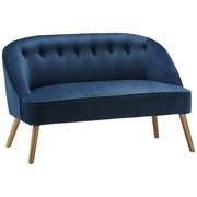 Lavice Sophia - modrá, Moderní, dřevo/textil (126,5/77/75cm) - Mömax modern living