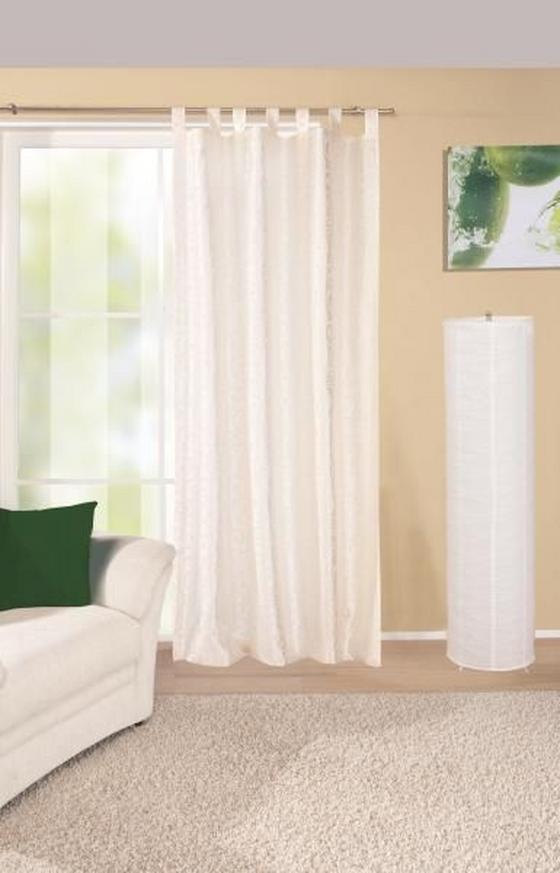 Kombivorhang Elegance - Naturfarben, KONVENTIONELL, Textil (140/255cm) - Ombra