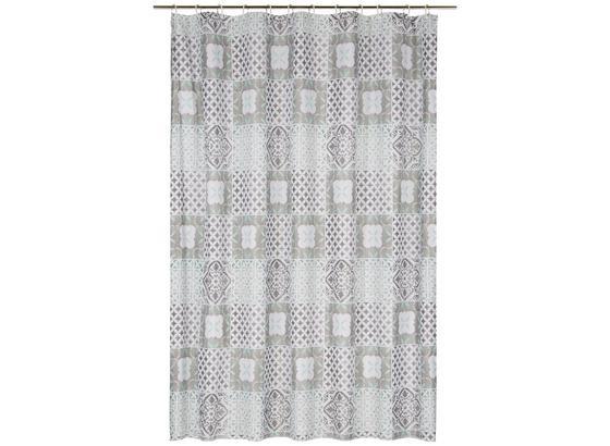 Sprchový Závěs Marrakesh - šedá/bílá, Lifestyle, textil (180/200cm) - Mömax modern living