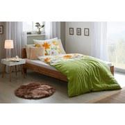 Makosatin Bettwäsche Amarillo - Grün, MODERN, Textil - Kleine Wolke