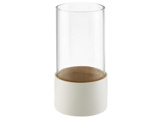 Dekorační Váza Finja - bílá, dřevo/sklo (11/21cm) - Mömax modern living
