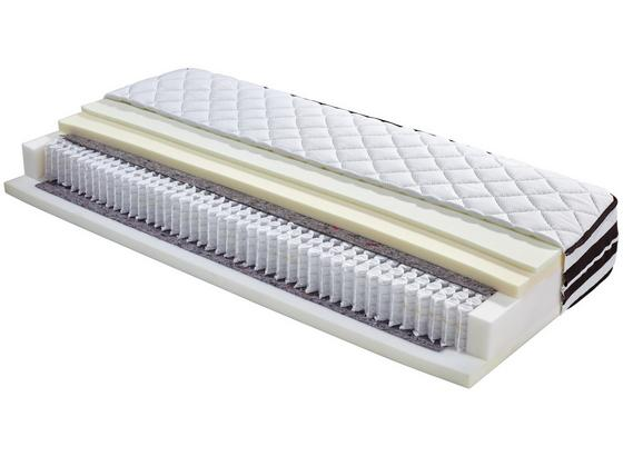 Taschenfederkernmatr. Cecile 120x200cm H2/H3 - Weiß, Textil (120/200cm) - Ele