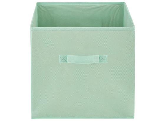 Regalkorb Juana - Mintgrün, KONVENTIONELL, Karton/Textil (31/31/31cm) - Luca Bessoni