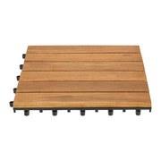 Terrassenfliese Rudi 10er Set Je 30x30 cm Akazienholz - Akaziefarben, MODERN, Holz/Kunststoff (30/30cm) - Ombra