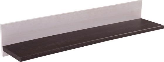 Falipolc Provence - fehér/wenge színű, romantikus/Landhaus, faanyagok (125,7/18/21,6cm) - JAMES WOOD