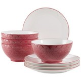 Desserttellerset Telde 8-teilig, Rot - Rot, Basics, Keramik - Mäser