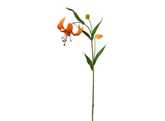 Umelá Kvetina Lilie - oranžová/zelená, Basics, plast (72cm)