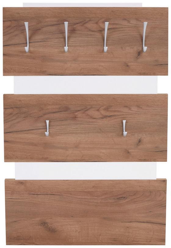 Garderobenpaneel Moya - Tölgyfa/Fehér, modern, Faalapú anyag/Műanyag (70/99/2cm)