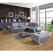 Sedacia Súprava Carisma - sivá, Moderný, kov/drevo (300/210cm) - Ombra