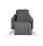 Überwurf Celine 140x210 cm - Grau, MODERN, Textil (140/210cm) - Luca Bessoni