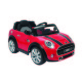 Kinderauto Ride On Mini Cooper 6v - Rot/Schwarz, MODERN, Kunststoff (110/62/51cm)