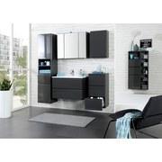 Waschtisch mit Soft-Close Cardiff B: 80 cm, Graphit - Graphitfarben/Weiß, Design, Holzwerkstoff/Stein (80/56/47cm)