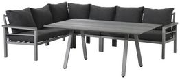 Loungegarnitur 4-Teilig Bari, Hellgrau - Hellgrau, MODERN, Kunststoff/Textil (199/259cm) - Beldano