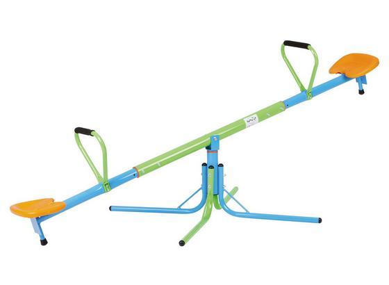 Karussellwippe T02310 - Blau/Orange, MODERN, Kunststoff/Metall (200/100/63cm)