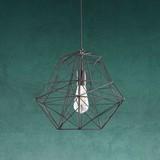 Závesná Lampa Arian - čierna, Moderný, kov (40/120cm) - Modern Living