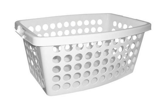 Ruháskosár 40 Liter - fehér, konvencionális, műanyag (56/39/22cm)