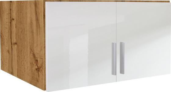 Nástavec Na Skříň K 2-dveřové Skříni, Dub Wotan - bílá/barvy dubu, Moderní, dřevo (91/40/54cm)