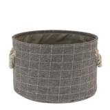 Aufbewahrungskörbchen Albano L - Weiß/Grau, MODERN, Textil (30/20cm) - Luca Bessoni