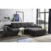 Wohnlandschaft Madrid ca. 315x197 cm - Silberfarben/Grau, KONVENTIONELL, Holzwerkstoff/Textil (315/197cm) - Carryhome