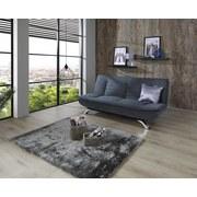 Schlafsofa mit Bettfunktion Bari Webstoff - Edelstahlfarben/Grau, Basics, Textil/Metall (190/90/102cm) - Ombra