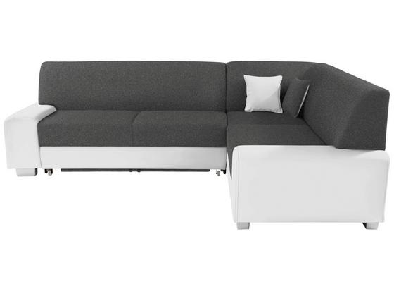 Sedací Souprava Miami - bílá/tmavě šedá, Basics, dřevo/textil (260/210cm)