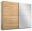Schwebetürenschrank Belluno 226 cm Eiche/spiegel - Sonoma Eiche, MODERN, Holzwerkstoff (226/210/62cm)