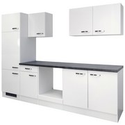 Kuchynská Linka Alba - biela/farby bridlice, Moderný, drevený materiál (270cm)