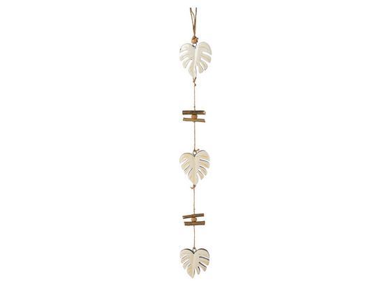 Girlande Heimo - Creme, Trend, Holz (120cm)