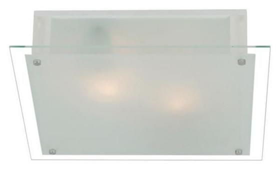 Mennyezeti Lámpa Quadro - konvencionális, üveg/fém (36/36cm)