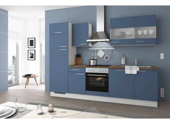 Küchenblock Turin 280cm Rauchblau - Blau, LIFESTYLE, Holzwerkstoff (280cm) - Qcina
