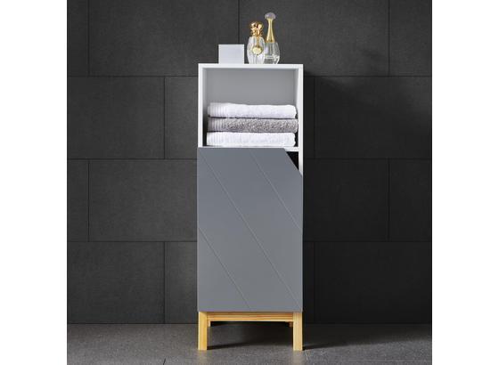 Spodní Skřiňka Rocco - šedá/bílá, Moderní, dřevo (30/84/31,20cm) - Modern Living
