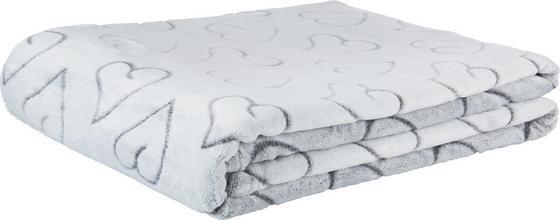 Deka Herz - šedá, textil (150/200cm) - MÖMAX modern living