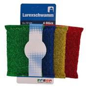 Schwamm Lurex - Dunkelgrün/Gelb, Basics, Textil (12/10/8cm)