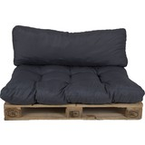 Palettenkissen 2-tlg. Loungeset - Grau, MODERN, Textil (120/80/16cm)
