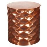 Couchtisch Rund Orient-Style Gopal, Kupferfarben - Kupferfarben, LIFESTYLE, Metall (43,5/43,5/48cm) - Livetastic