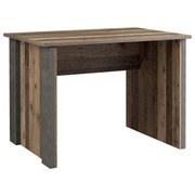 Schreibtisch Cliff B: 103 cm - Dunkelgrau/Braun, Basics, Holzwerkstoff/Kunststoff (103/73.5/70cm) - MID.YOU