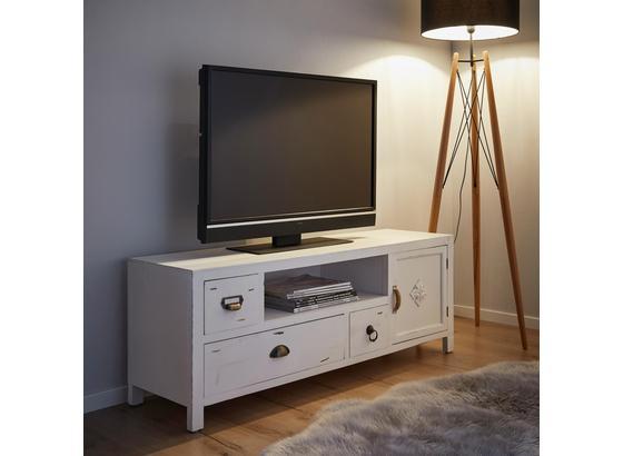 Tv Diel Vintage - biela, Moderný, kov/drevo (124/45/34cm) - Mömax modern living
