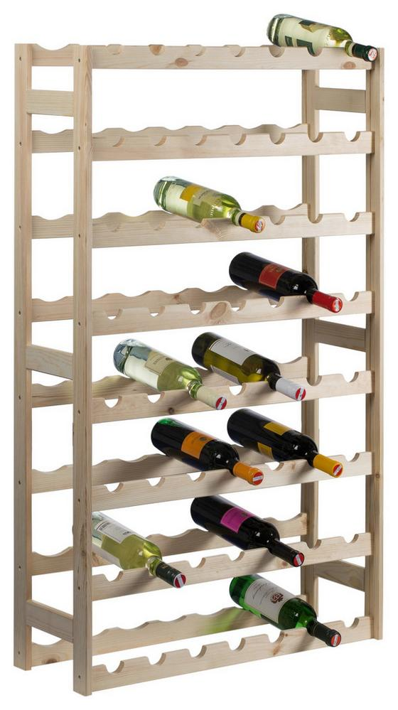 Weinregal Vino 56 Flaschen Kiefer - Kieferfarben, KONVENTIONELL, Holz (75/120/25cm)