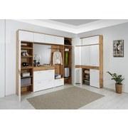 Garderobenkombination Space New 3 - Eichefarben/Weiß, MODERN, Holzwerkstoff (210/199/35cm)