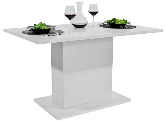 Étkezőasztal Oskar 138 - Fehér, modern, Faalapú anyag (138/76/80cm)