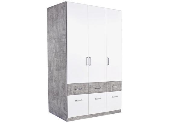 Šatná Skriňa Aalen-extra - sivá/biela, Konvenčný, kompozitné drevo (136/197/54cm)