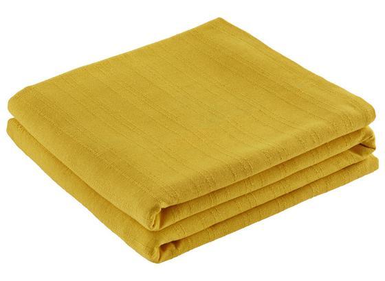 Prehoz Solid One -ext- - žltá, textil (240/210cm) - Based