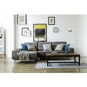 Couchtisch mit Massiver Tischplatte Vintage Ulme - Dunkelgrau/Braun, Trend, Holz/Metall (120/60/40cm) - Landscape
