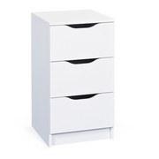 Nachtkästchen Weiß H: 71 cm West - Weiß, MODERN, Holzwerkstoff (41/71/40cm) - MID.YOU