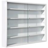 Hängevitrine Compilati B:80cm mit Sicherheitsglas, Weiß - Weiß, KONVENTIONELL, Glas/Holzwerkstoff (80/60/9,5cm) - Carryhome