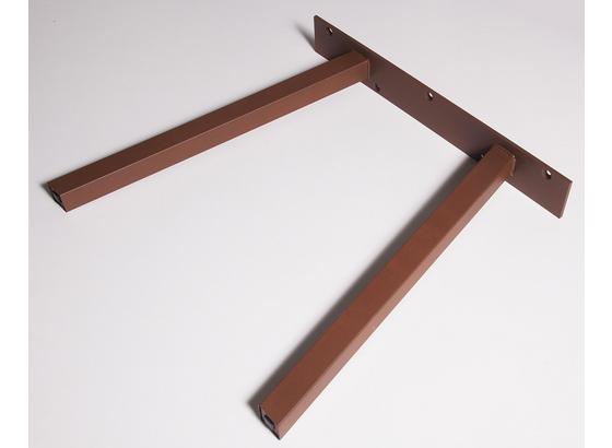 Tischgestell A-Form B 70cm H 71cm, Rostfarben - Rostfarben, Basics, Metall (70/71cm)