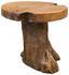 Beistelltisch Unikat Teak Holz Ø 40cm - Naturfarben, MODERN, Holz (40/45cm)