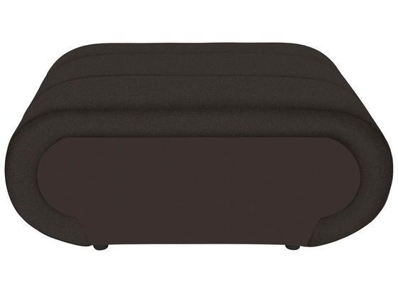 Taburet Carisma - tmavě hnědá/hnědá, Moderní, textil (100/42/66cm) - Ombra