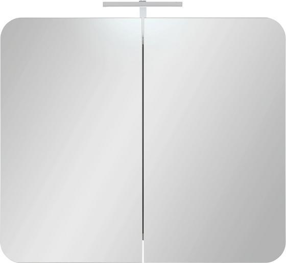 Skříňka Se Zrcadlem Linate - Moderní, dřevěný materiál (80/69/16cm)